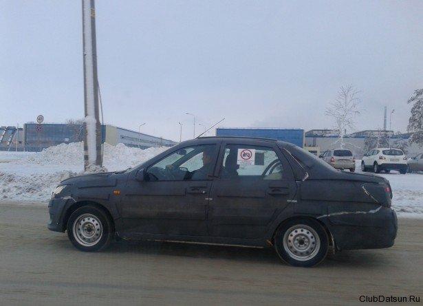 foto datsun Шпионская фотография передней части нового Datsun