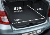 Порядок в багажнике Datsun on-Do и mi-Do