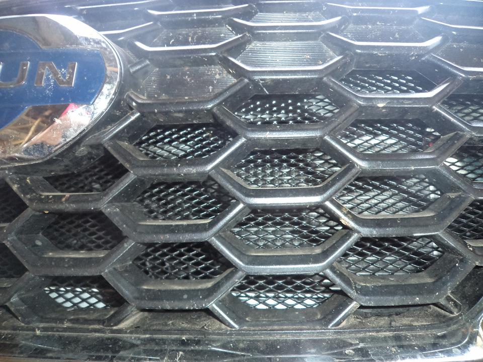 b7044es 960 Ставим защитную сетку радиатора на Датсун он До и ми До