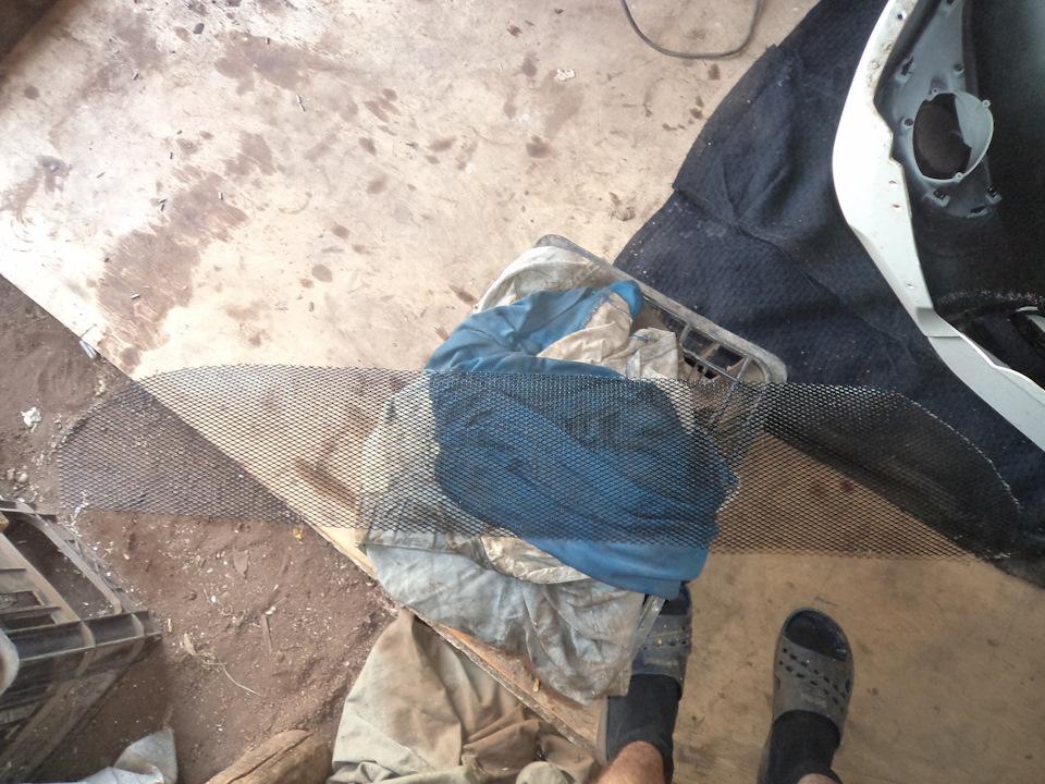 bae044es 960 Ставим защитную сетку радиатора на Датсун он До и ми До