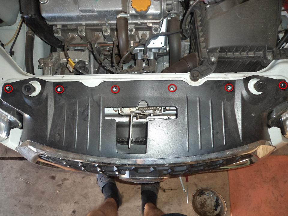 c58044es 960 Ставим защитную сетку радиатора на Датсун он До и ми До